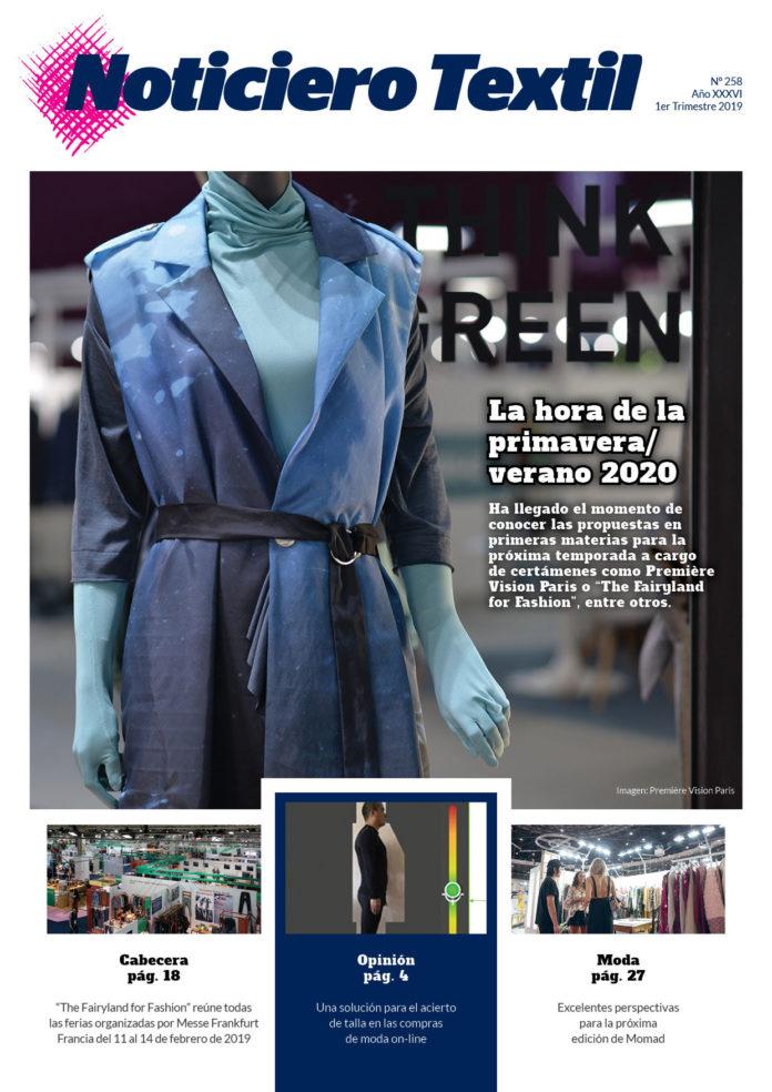 Portada Noticiero Textil edición 258 primer trimestre 2019