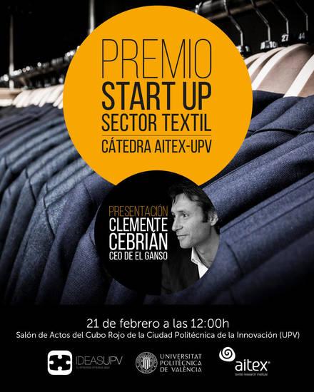 Todo a punto para la presentación del Premio 'Start up' convocado por la Cátedra Aitex-UPV
