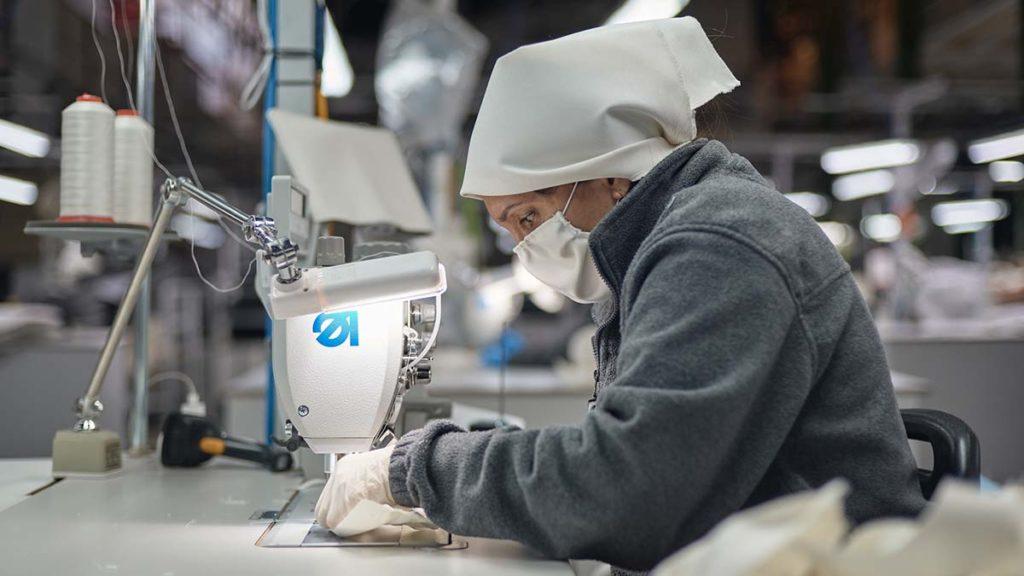 Trabajadora textil